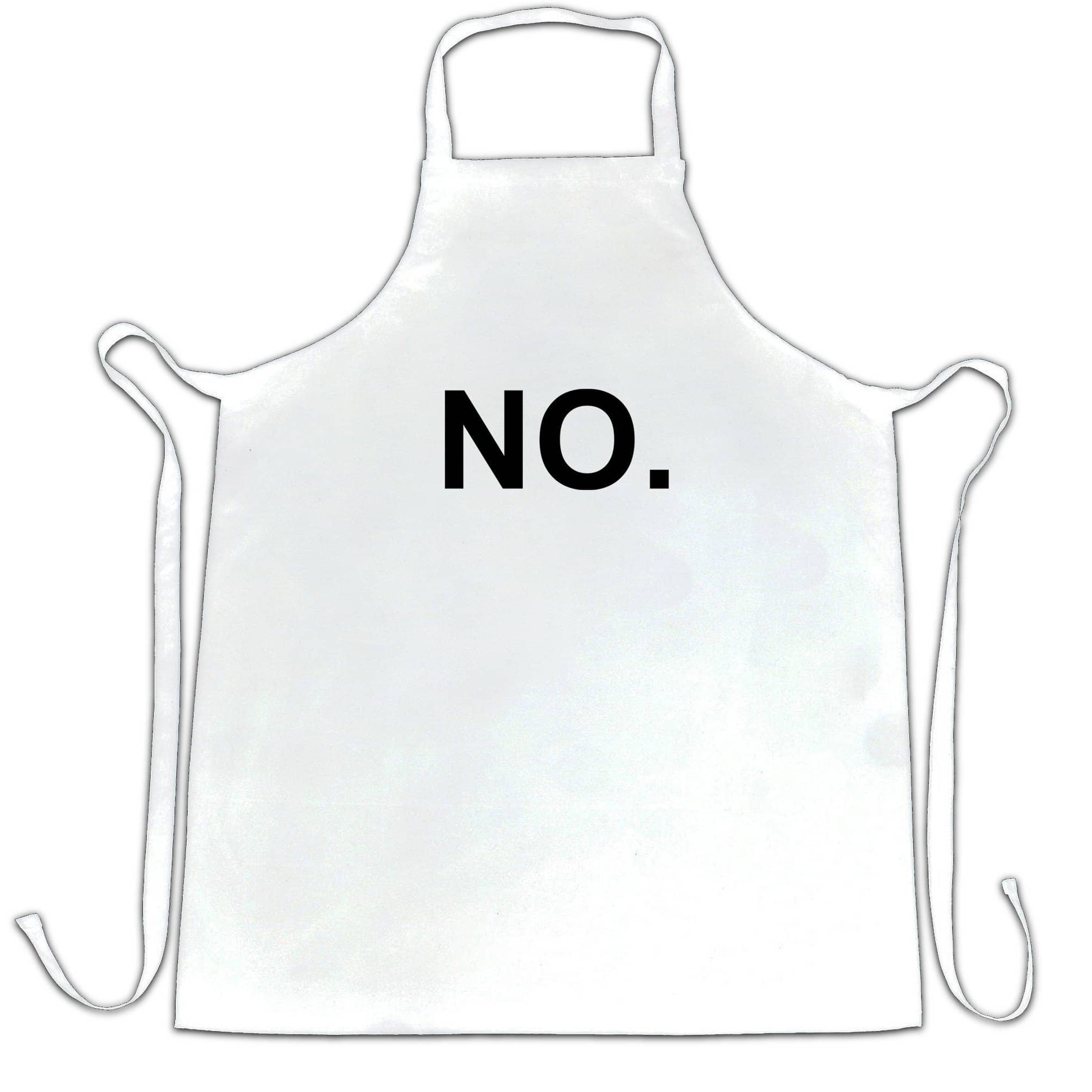 Novelty Chef's Apron With Just The Word No.