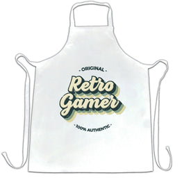 Original Retro Gamer 100% Authentic Vintage Slogan Distressed Apron