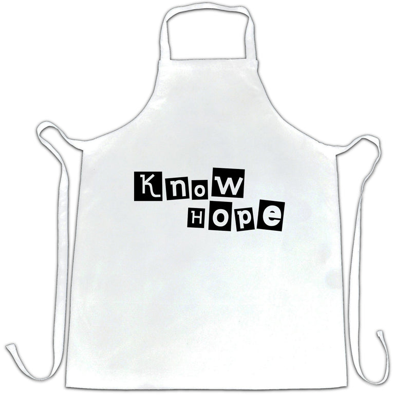 Slogan Twist Chefs Apron Know Hope No Hope