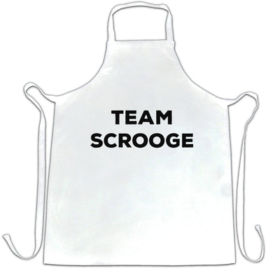 Novelty Anti-Christmas Chef's Apron Team Scrooge Slogan