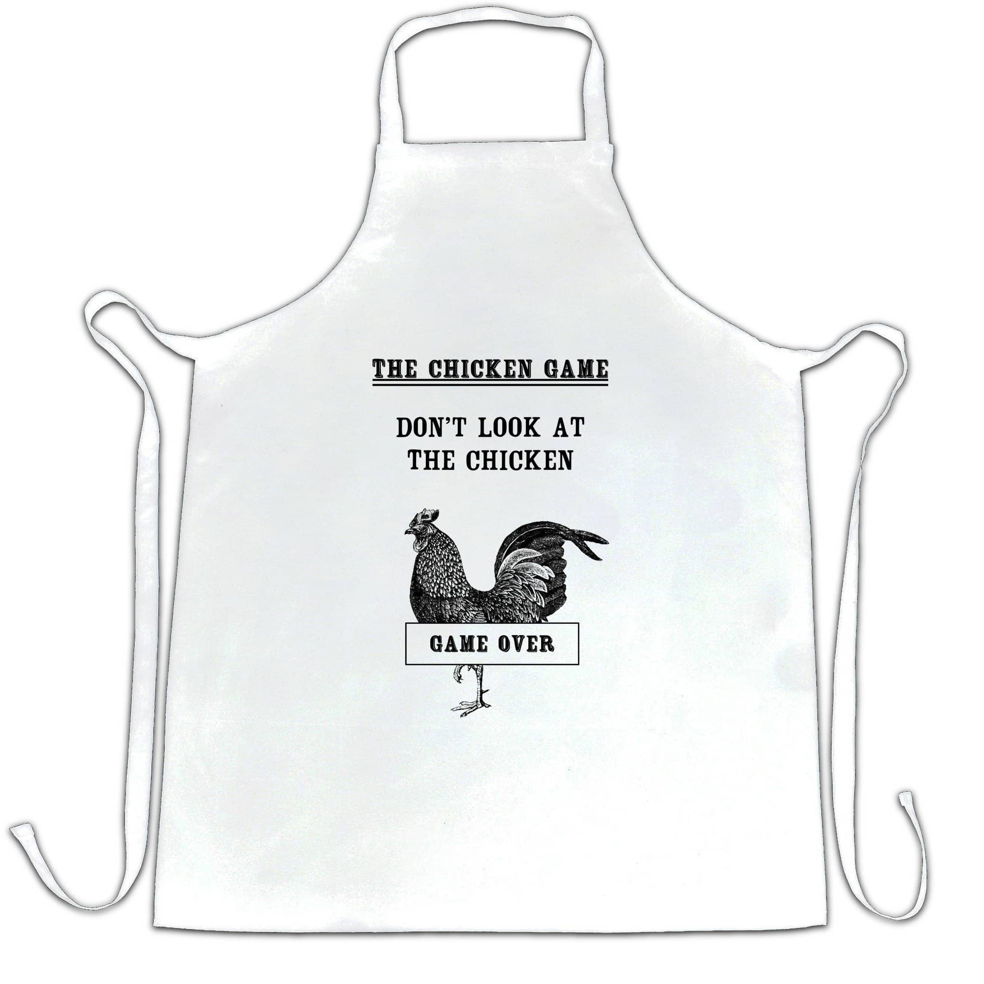 Novelty Chef's Apron Don't Look At The Chicken Game Joke