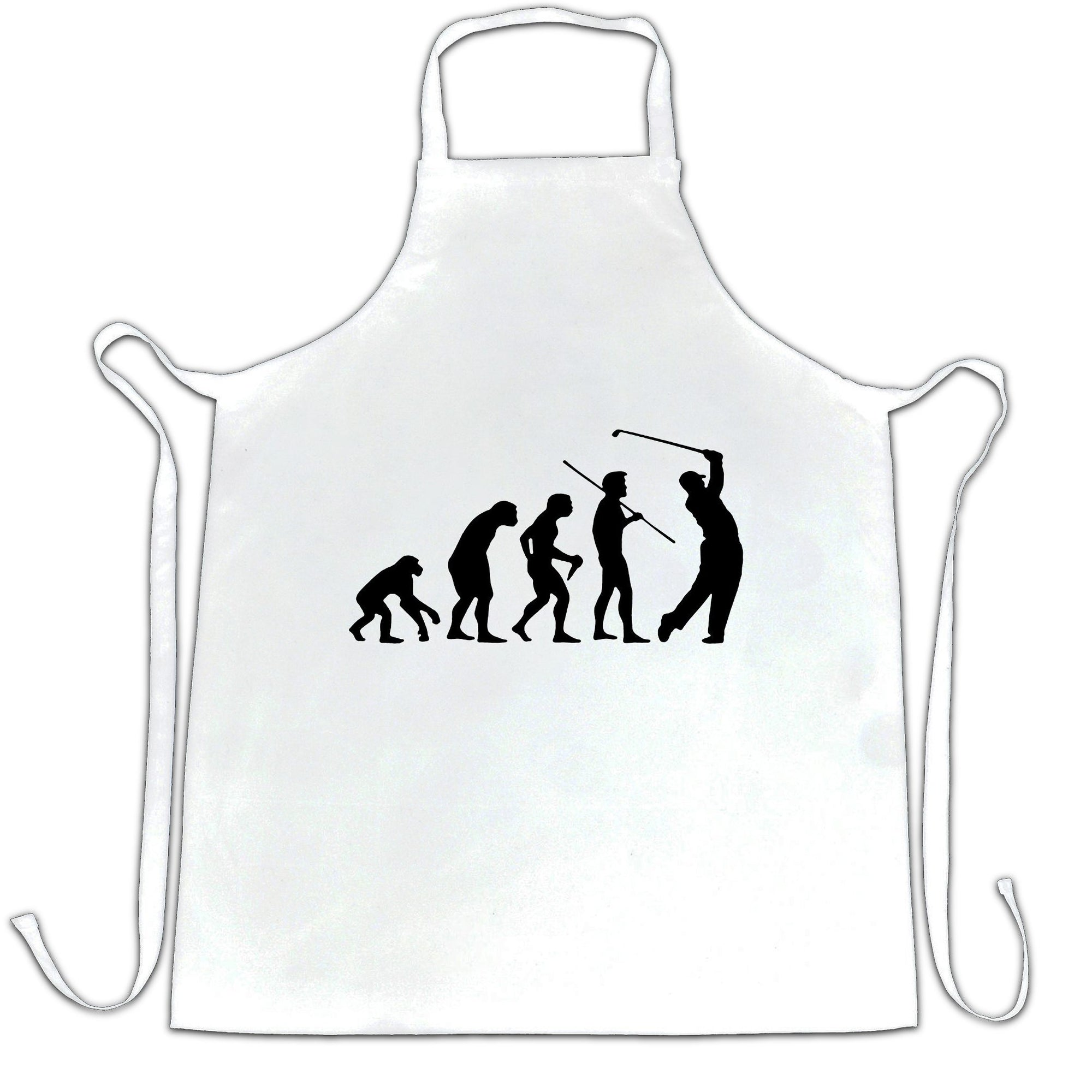Novelty Golf Chef's Apron Evolution Of A Golfer