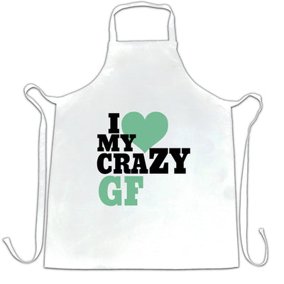 Fun Couples Chef's Apron I Love My Crazy Girlfriend