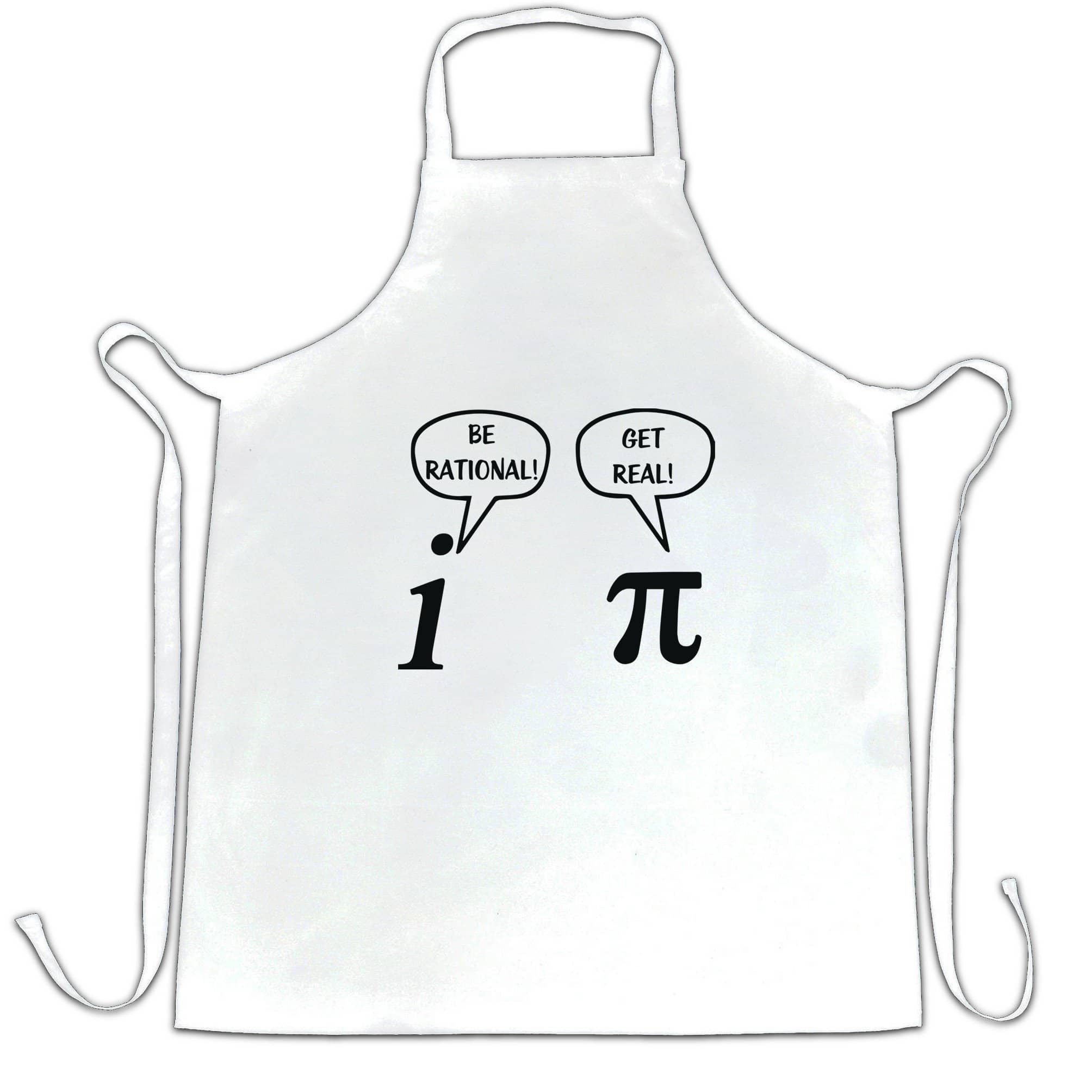 Novelty Math Chef's Apron Be Rational! Get Real! Argument