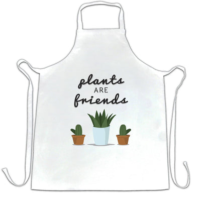 Cute Gardening Chef's Apron Plants Are Friends Cactus
