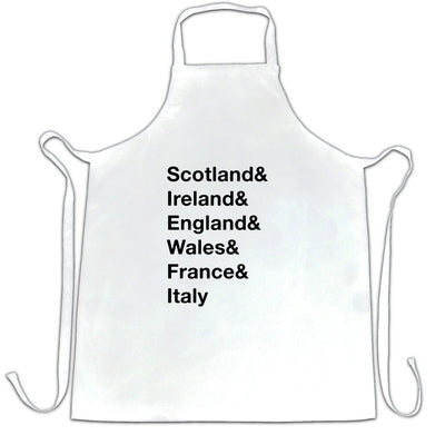 The Six Nations Chefs Apron Scotland, Ireland, England
