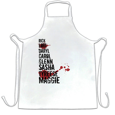 Zombies TV Show Parody Chef's Apron Who's Left?