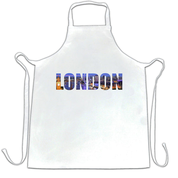 Tourist Chef's Apron City Of London At Night Text Cutout