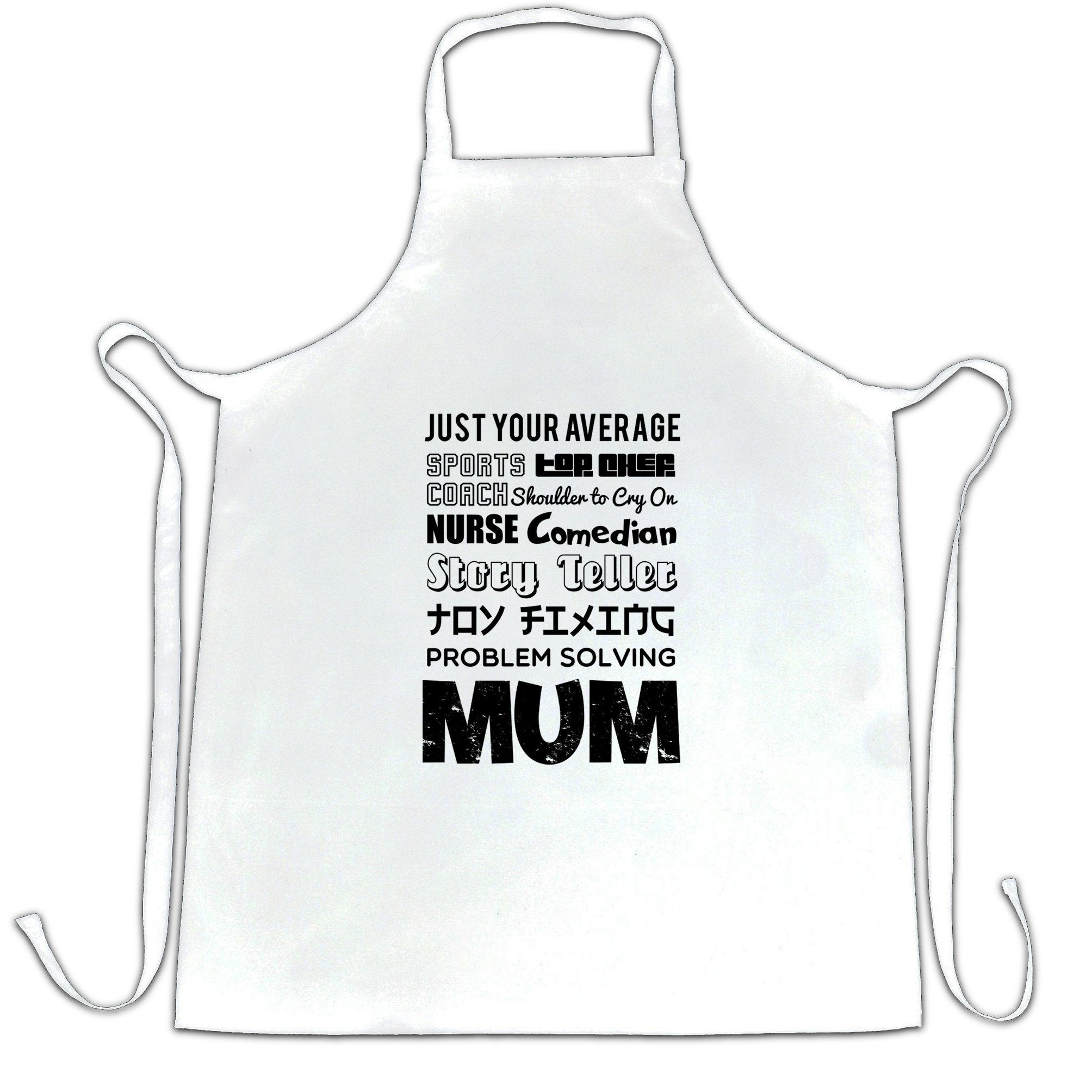 Mother's Day Chef's Apron Just Your Average Superhero Mum