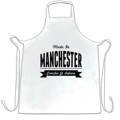 Hometown Pride Chef's Apron Made in Manchester Banner