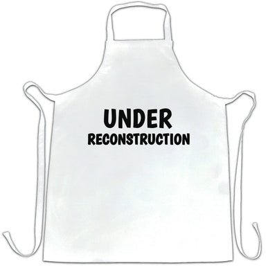 Novelty Gym Chef's Apron Under Reconstruction Slogan