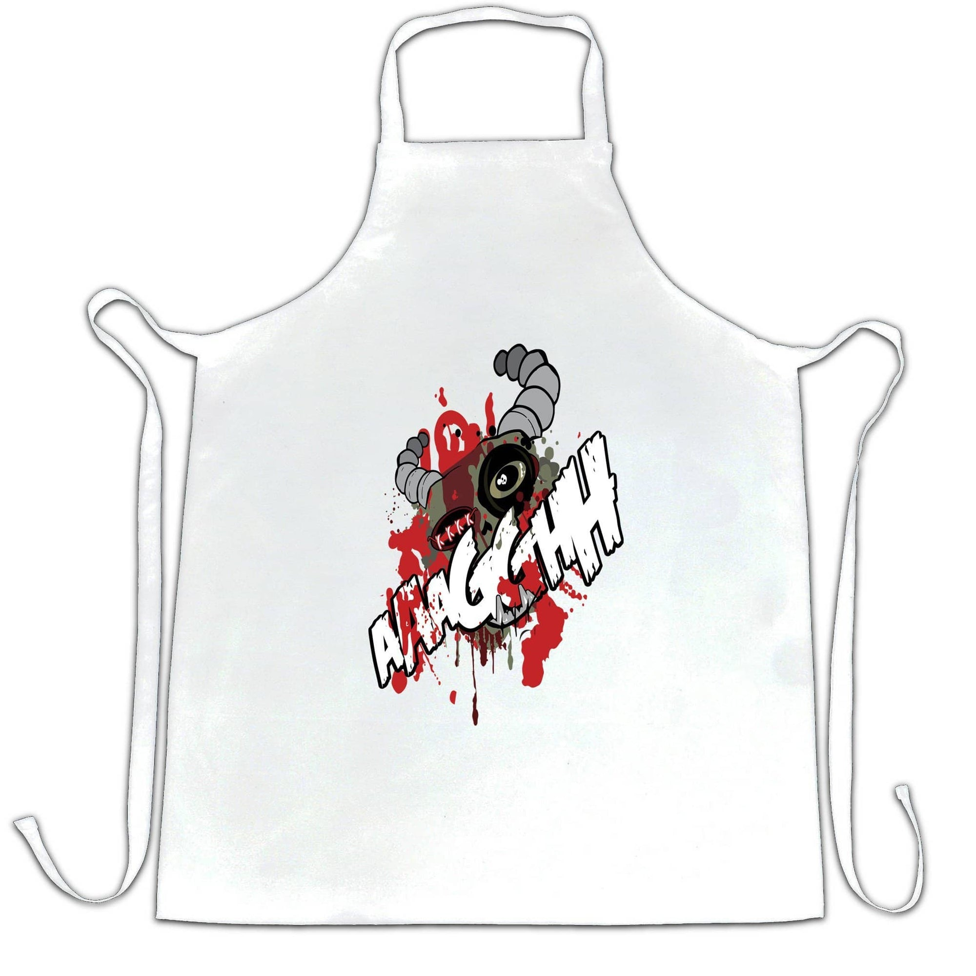 Cartoon Monster Chefs Apron Scary Ogre Face