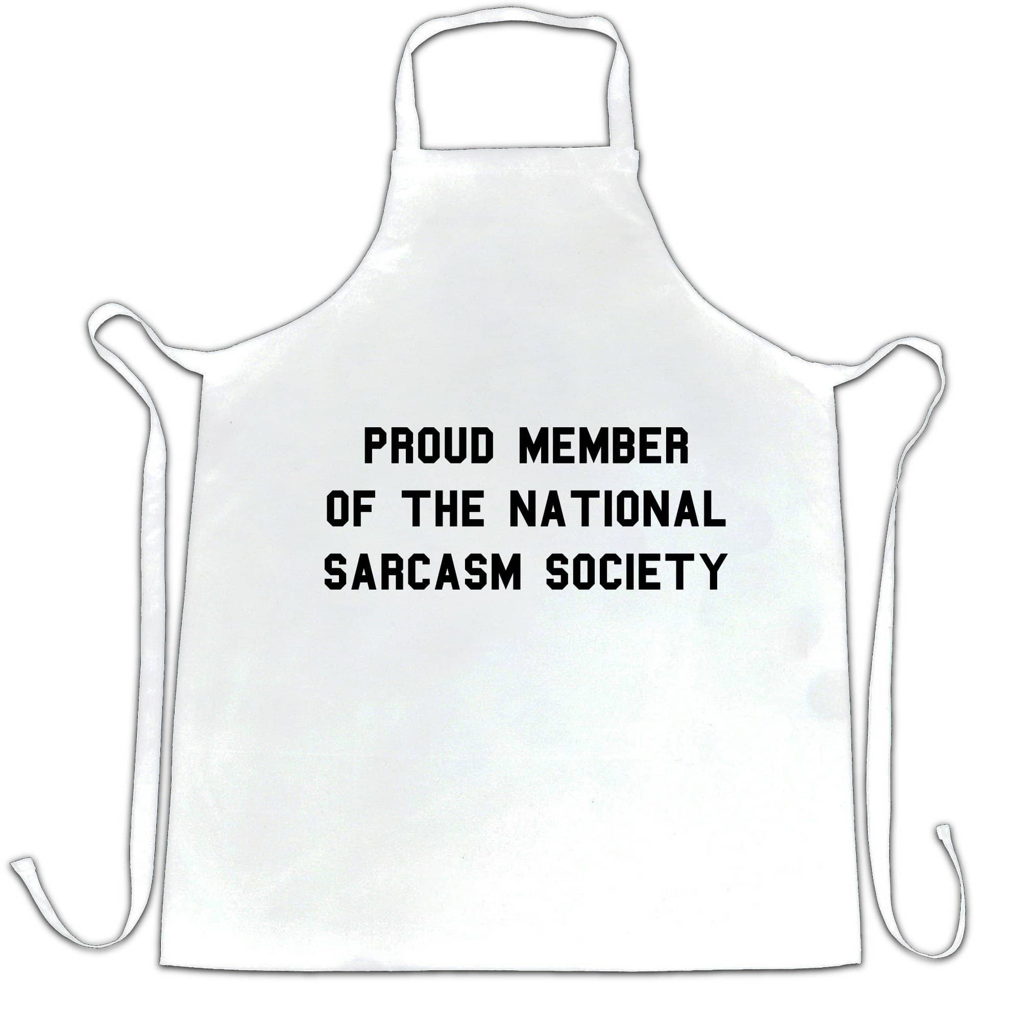 Novelty Chef's Apron Proud Member Of The Sarcasm Society