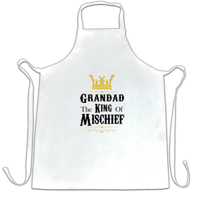 Father's Day Chef's Apron Grandad, The King Of Mischief