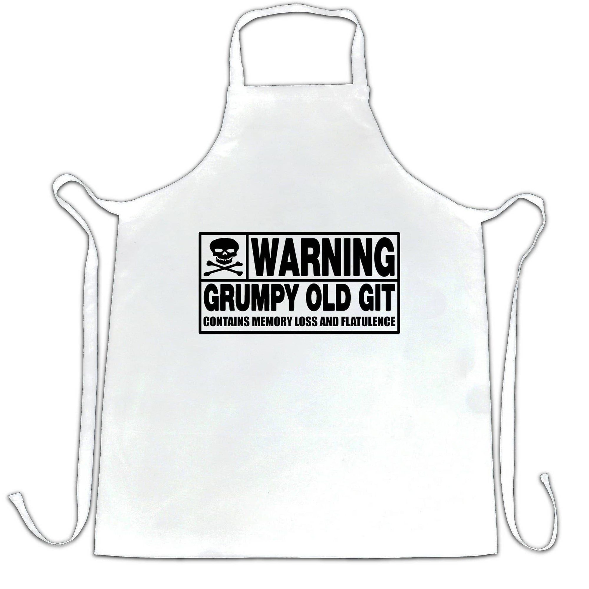 Novelty Chef's Apron Warning, Grumpy Old Git Slogan Joke