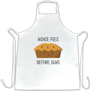 Joke Christmas Chef's Apron Mince Pies Before Guys Novelty