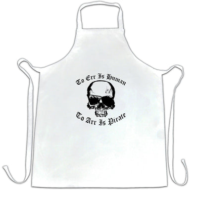 Parody Chef's Apron Too Err Is Human, To Arr Is Pirate