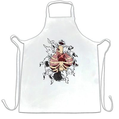 Halloween Chef's Apron Exposed Organs Ripped Open Chest
