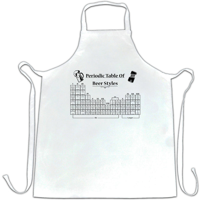 Periodic Table Of Beer Apron