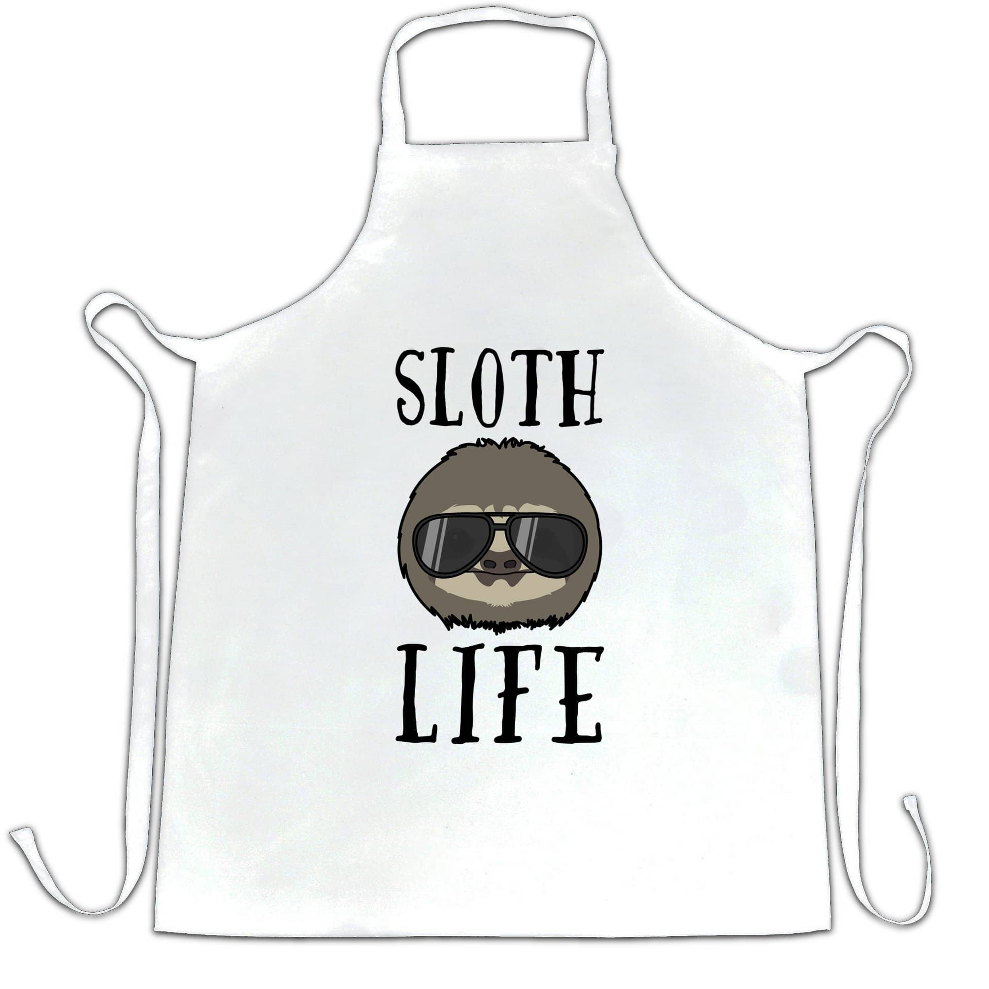 Novelty Animal Chef's Apron Sloth Life Pun Slogan