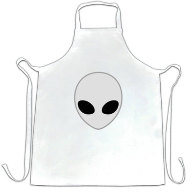 Alien Chef's Apron Nerdy Iconic Sci Fi Head Design