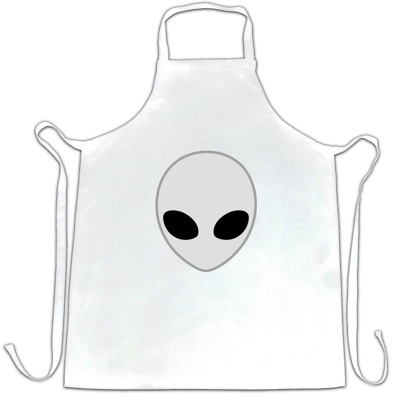 ALIEN HEAD T shirt COOL UFO SCI-FI GEEKY We Are Not Alone Space UFO Extraterrestrials Alien Life Apron