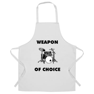 Novelty Music Chef's Apron Weapon of Choice Drums