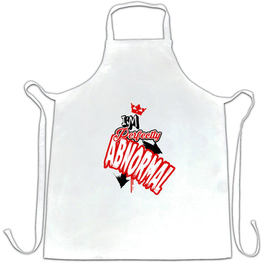 Novelty Weird Chef's Apron I'm Perfectly Abnormal Slogan