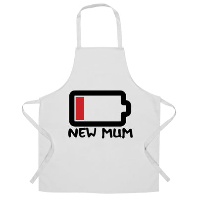 New Mum Chef's Apron Low Battery Remaining Novelty Joke