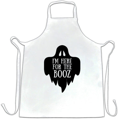 Novelty Halloween Chef's Apron I'm Here For The Booz Joke