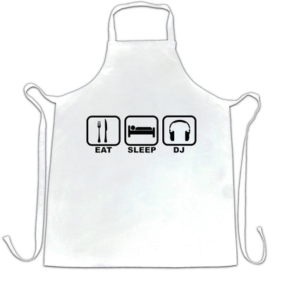 Novelty Chef's Apron Eat, Sleep, Then DJ Symbols