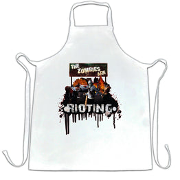 Zombies are rioting Printed Slogan Quote Design Premium Quality Apron