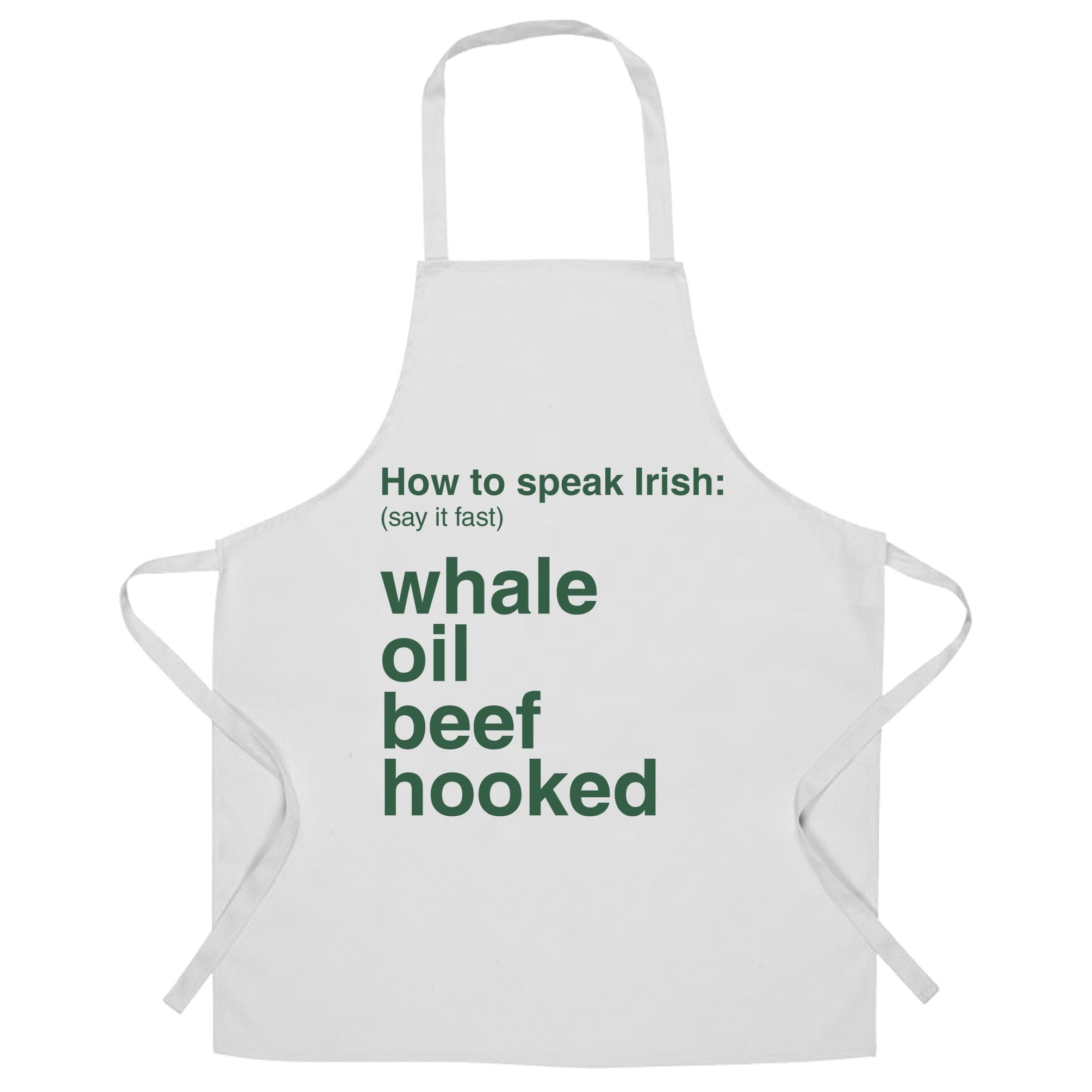 St. Patricks Chef's Apron How To Speak Irish