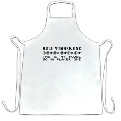 Gaming Chef's Apron Rule Number One, This Is My House