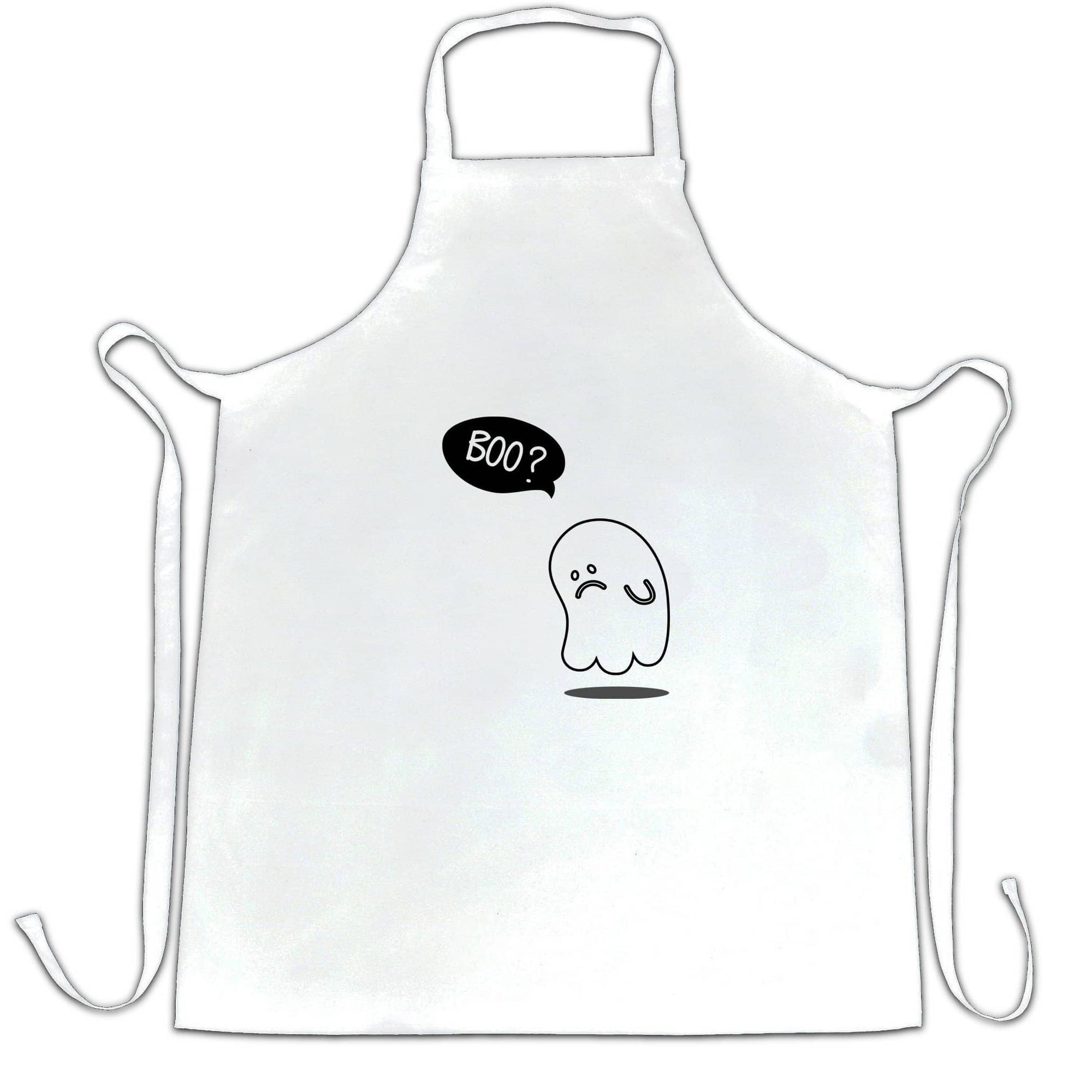 Funny Halloween Chefs Apron Sad Ghost Novelty