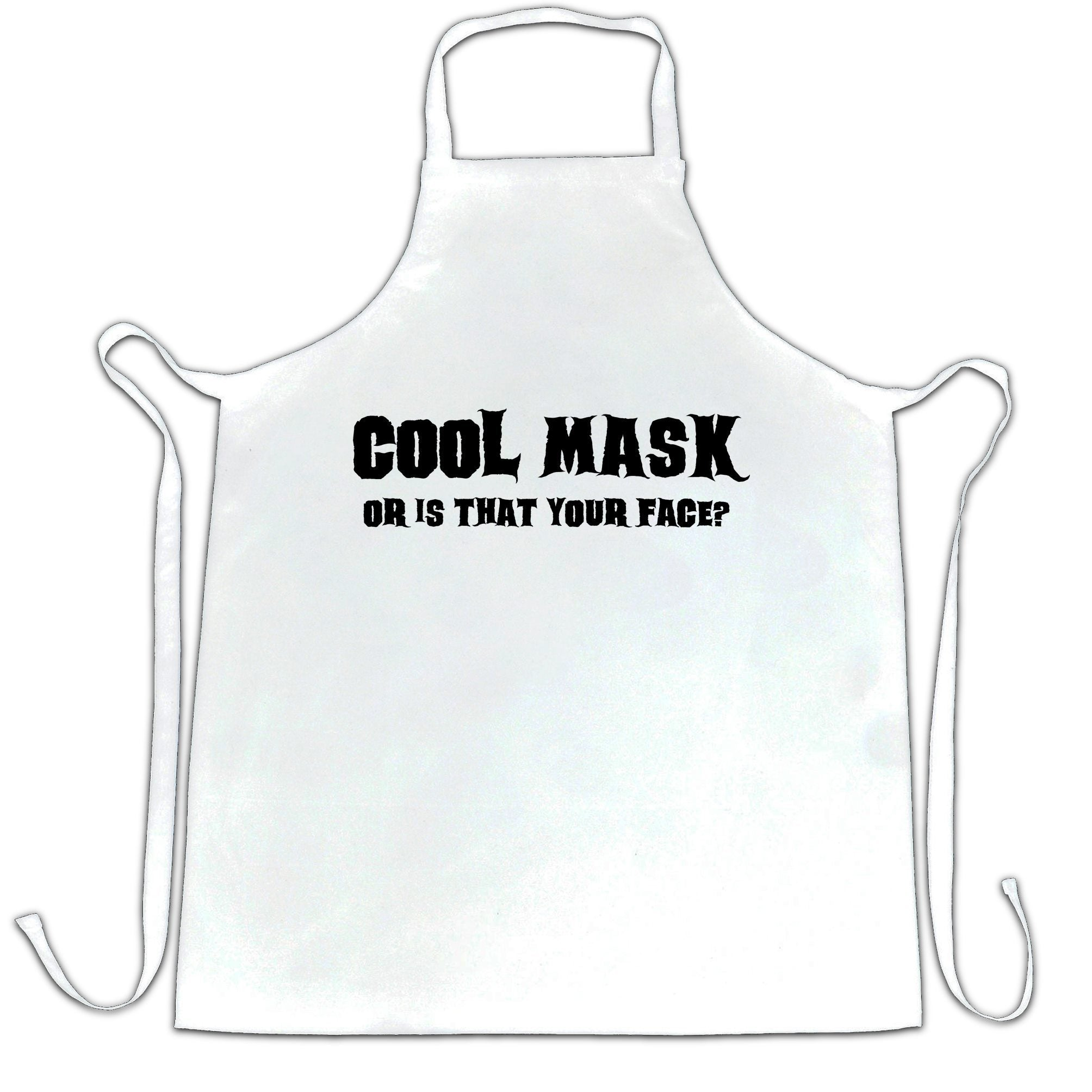 Sassy Halloween Chef's Apron Cool Mask Or Is That Your Face