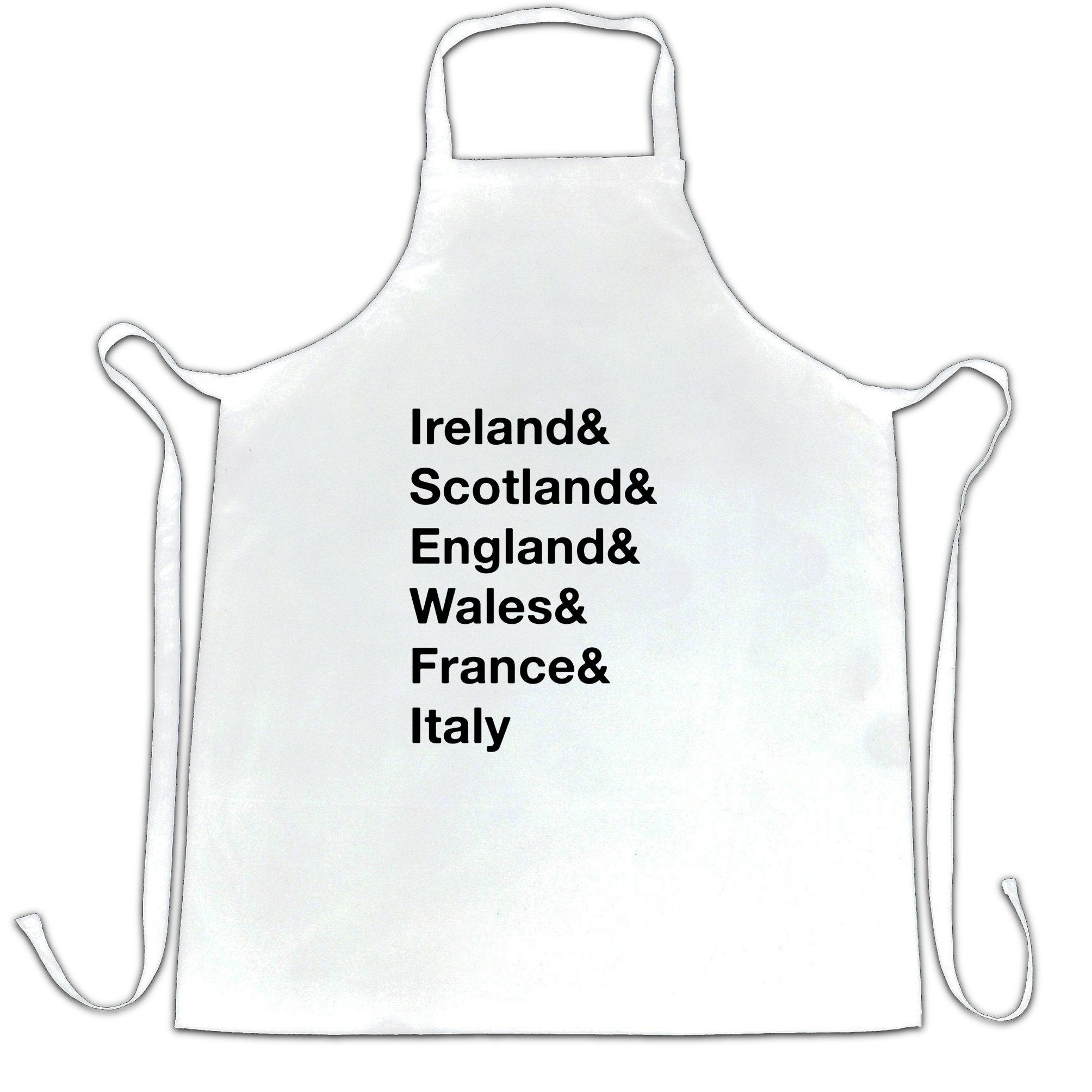 The Six Nations Chef's Apron Ireland, Scotland, England