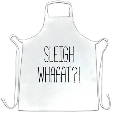 Joke Christmas Chef's Apron Sleigh What Festive Pun