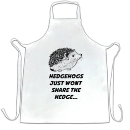 Funny Pun Chefs Apron Hedgehogs Just Won't Share The Hedge
