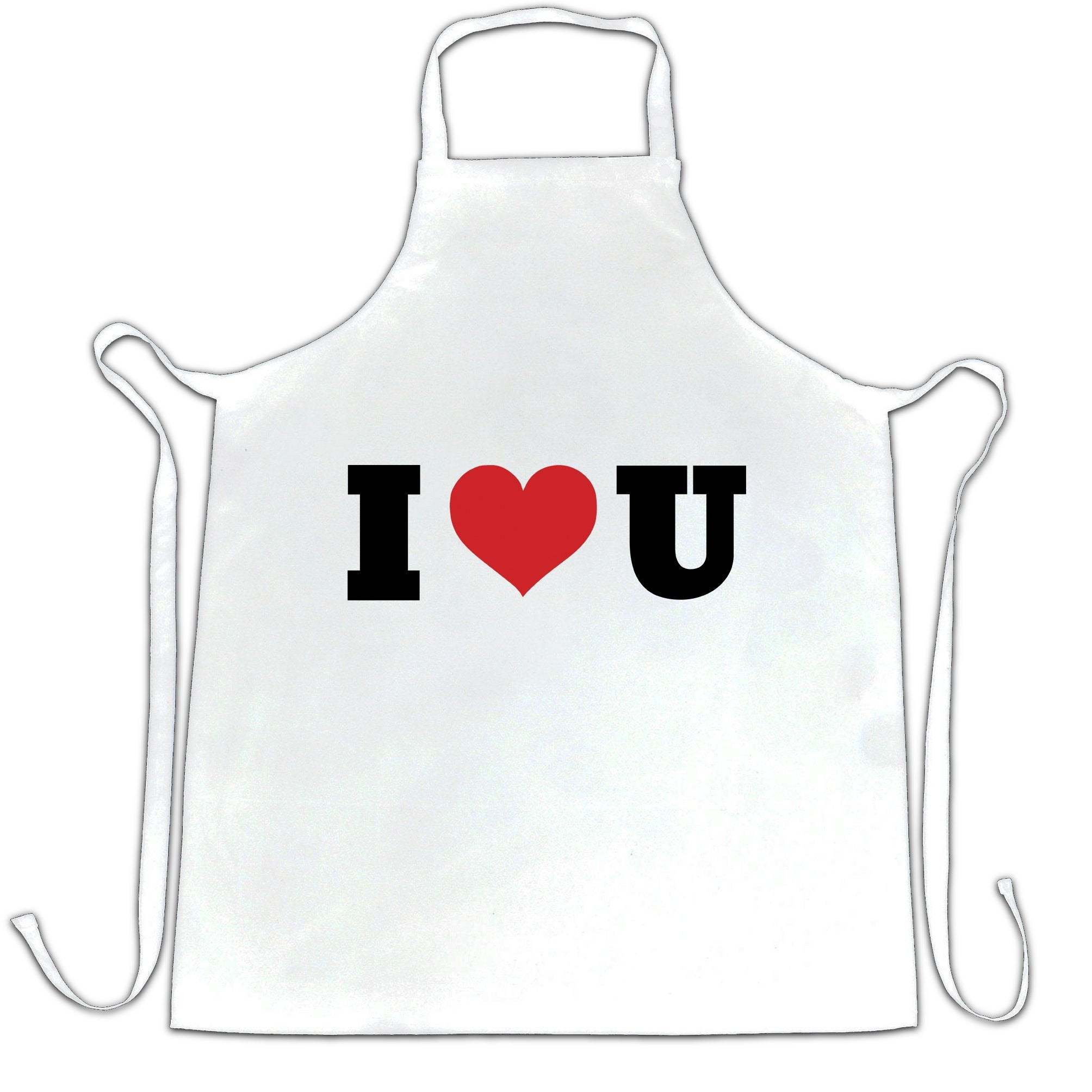 Valentine's Day Chef's Apron I Heart You U