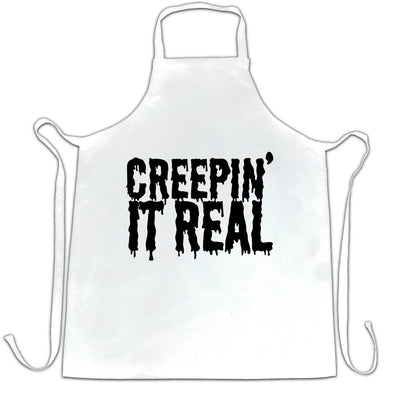 Novelty Halloween Chef's Apron Creepin' It Real Joke