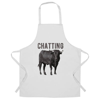 Bull Ox Chef's Apron Chatting Bullocks Joke