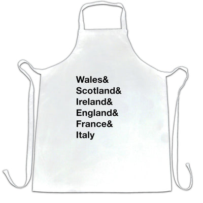 The Six Nations Chef's Apron Wales, Scotland, Ireland