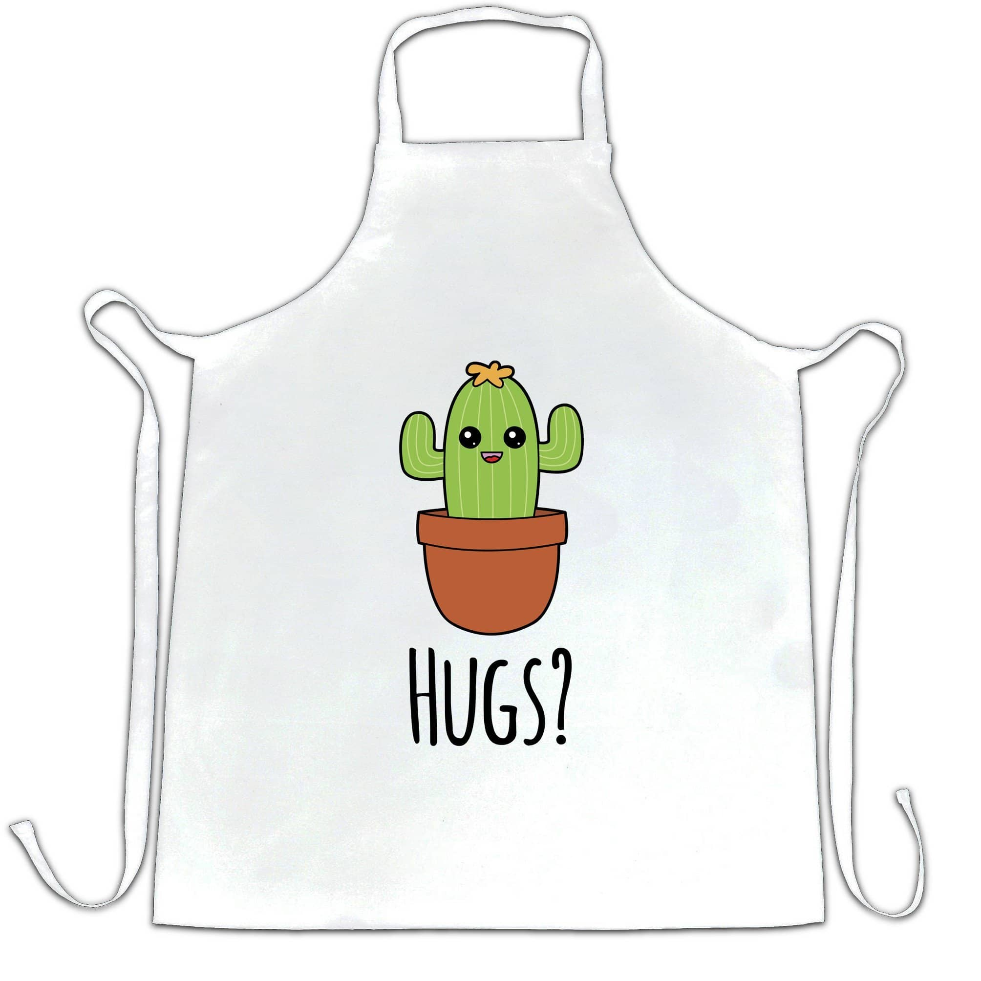 Novelty Chef's Apron Cactus Wants Hugs Design