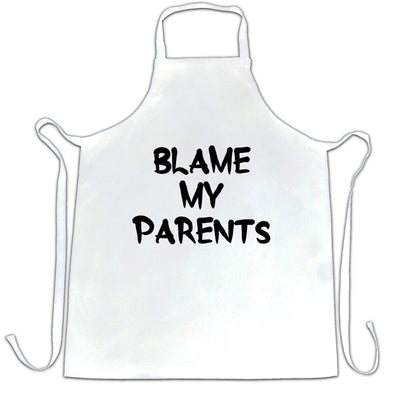 Novelty Slogan Chef's Apron Blame My Parents Joke