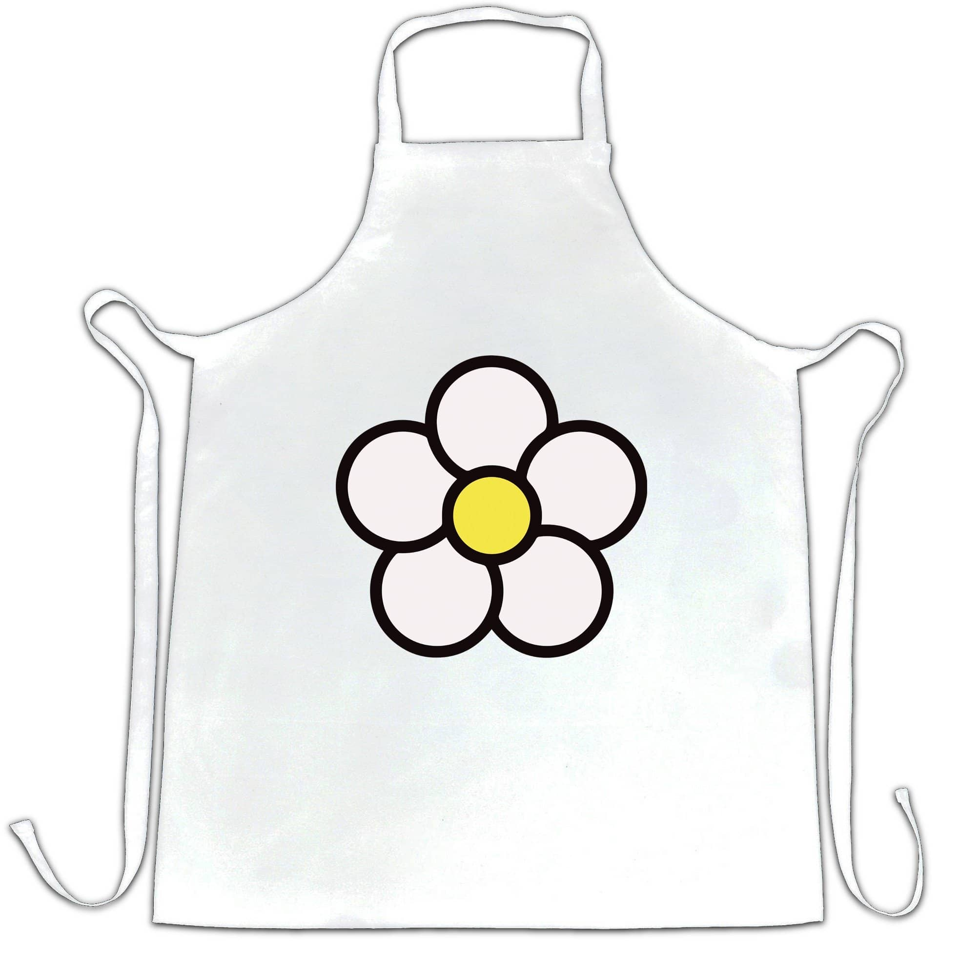Cute Summer Chef's Apron Floral Single Daisy