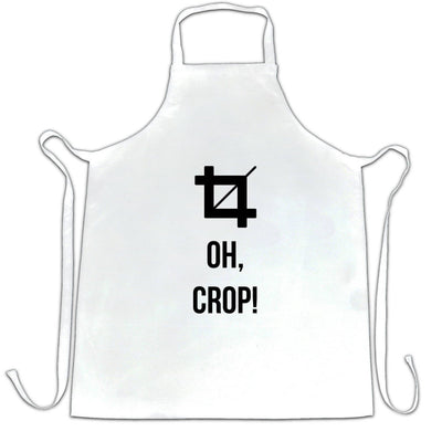 Novelty Chef's Apron Oh Crop! Graphic Design Joke