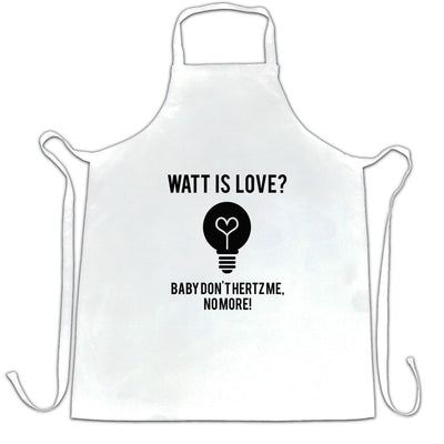 Novelty Nerd Chef's Apron Watt Is Love, Baby Don't Hertz Me