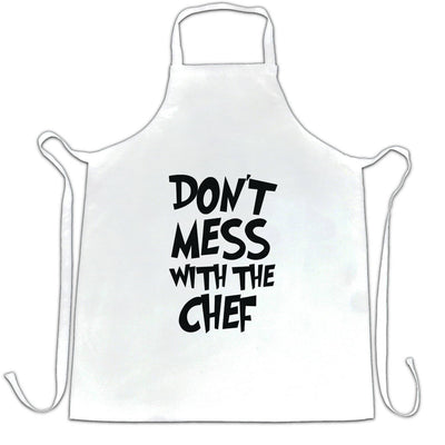 Novelty Barbecue Chef's Apron Don't Mess With The Chef Joke