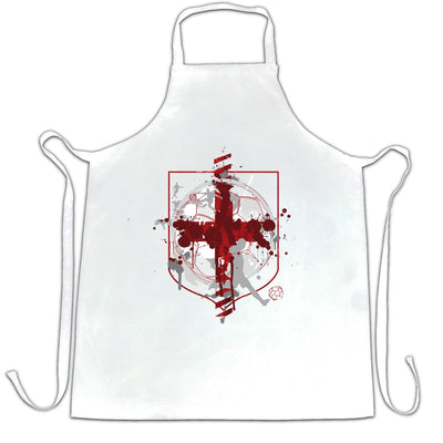 World Cup Chef's Apron England Flag Football Crest Of Arms